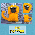 Squshies - Golden Lion Tamarin Pattern