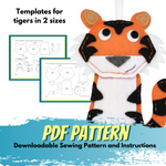 Tiger - Felt Animal Pattern - DIY Christmas Ornament