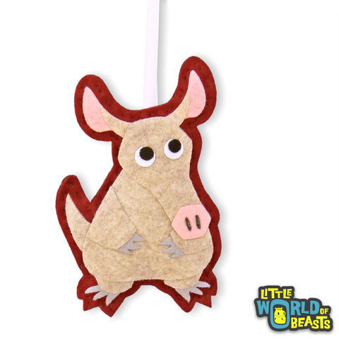 Aardvark - African Animal Plush Christmas Ornament