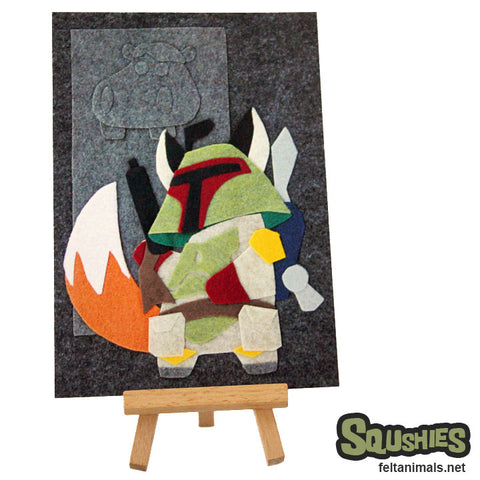 Bounty Hunter Scum - Felt Animal Illustration Postcard - The Squshies