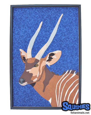 Bongo - African Animal Portrait - Felt Animal Art