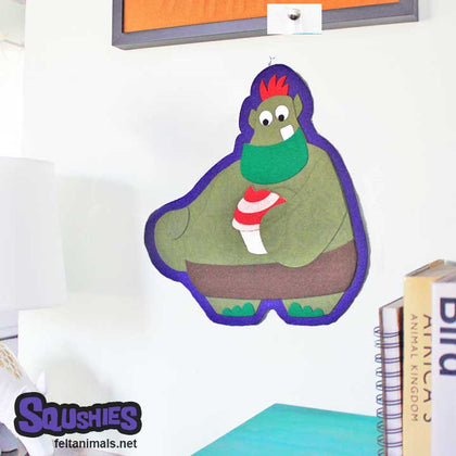 Otis the Cake Troll - Felt Monster Ornament - The Squshies - Felt Animals