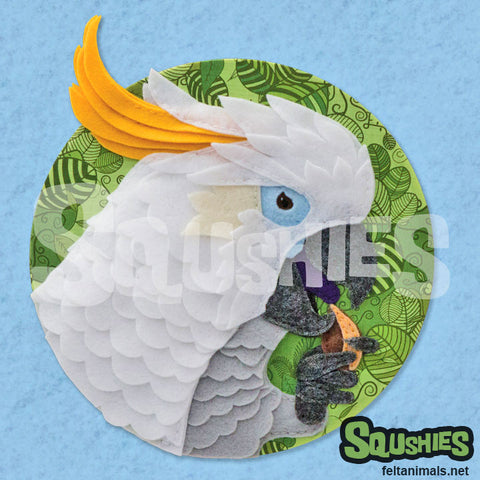 Squshies - Cockatoo Art Print