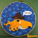 Squshies - Cowgirl Cuttlefish - Alliteration Animal Hoop
