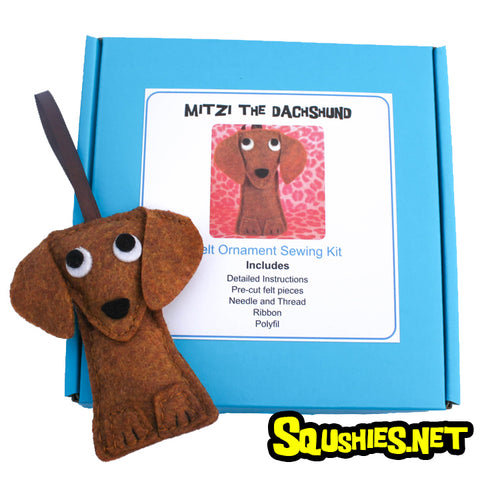 Dachshund - DIY Felt Ornament