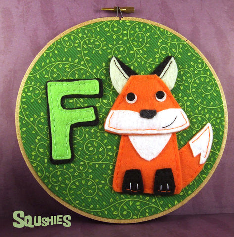 F is for Fox - Alphabet Hoop Art