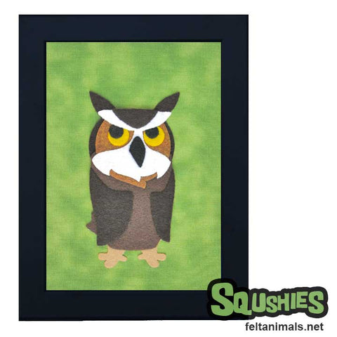 Fredrickson the Great Horned Owl Framed Animal Art