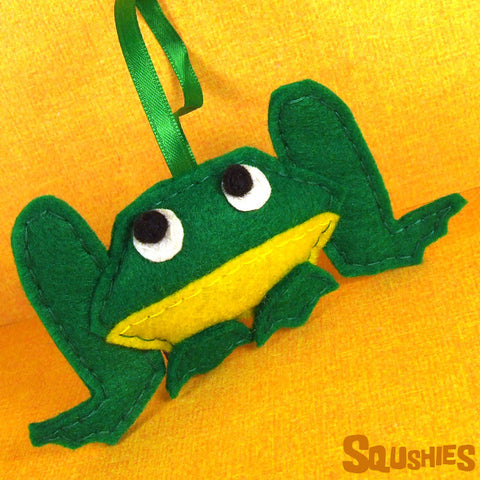 Felt Frog Christmas Ornament