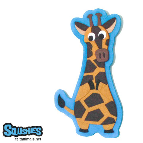 Giraffe Wall Hanging - Felt Zoo Animal Nursery Art -The Squshies