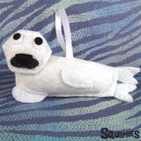 Baby Harp Seal - Handmade Ornament