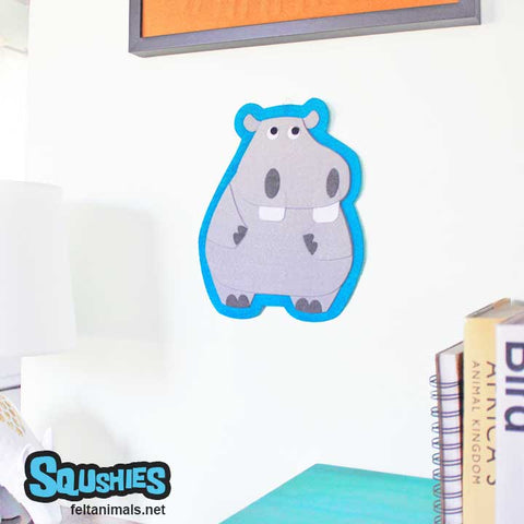 Hippo - Felt Animal Wall Hanging
