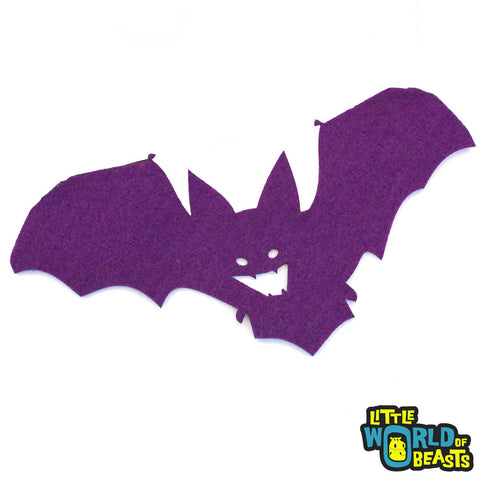 Flying Bat- Felt Laser Cut Shape - Halloween