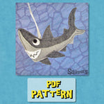 Felt Animal Pattern - Shark - Great White