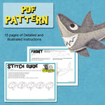 Felt Animal Ornament - Shark - Great White
