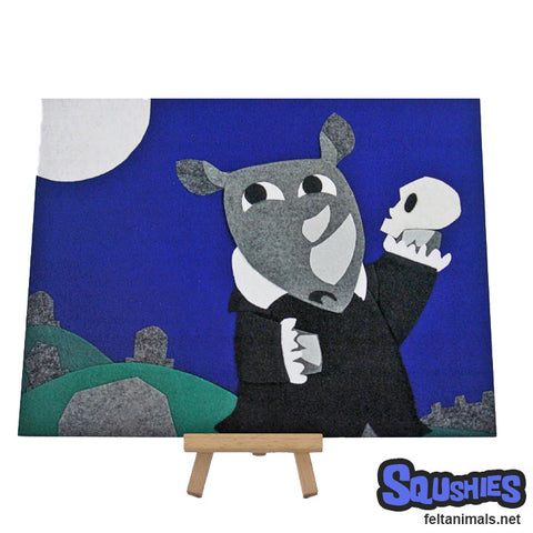 Anyone Missing a Skull? - Hamlet Rhino Print