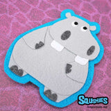 Hippo - Felt Animal Patch