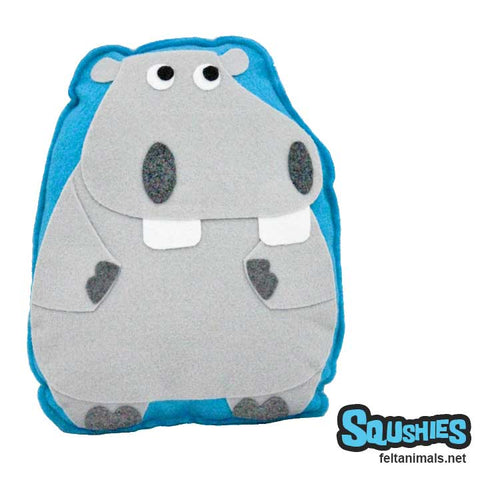 Hippo - Felt Animal Pillow Plush