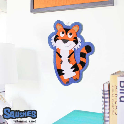 Tiger Nursery Art Felt Wall Hanging