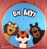 Wall Art Embroidery Hoop – Oh My!