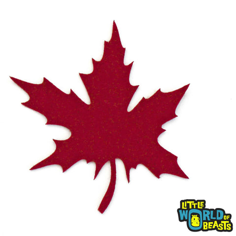 Maple Leaf - Laser Cut Autumn Felt Shape - Ruby