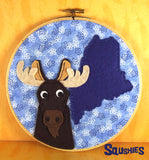 State Animal Hoop Art - Maine Moose
