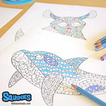 Complex Line Art - Animal Coloring Book