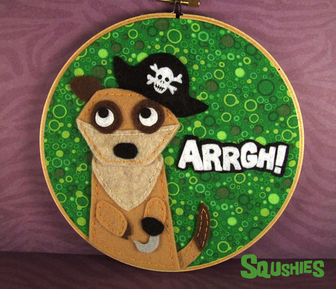 Pirate Meerkat Wall Art