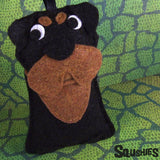 Felt Dog Ornament - Rottweiler
