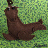 Sea Lion - Felt Animal Ornament
