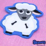 Sew On or Iron On Patch - Farm Animal Sheep