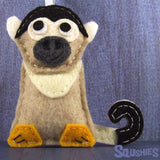 Felt Animal - Squirrel Monkey