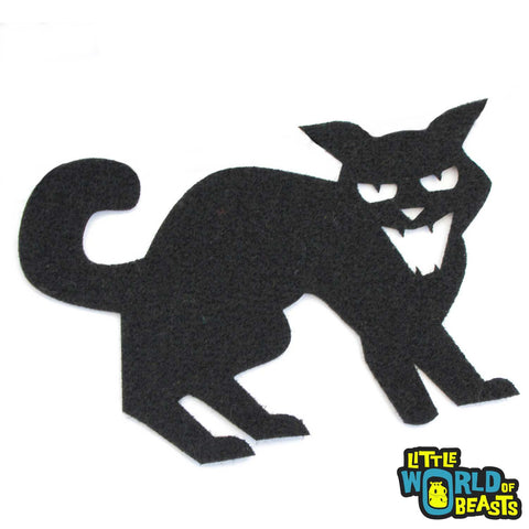 Hissing Cat - Felt Halloween Laser Cut Shape
