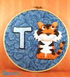 T is for Tiger - Nursery Hoop Art