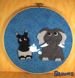 Tea Party- Felt Hoop Art