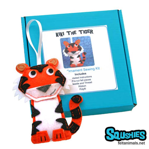 Tiger - Felt Animal Ornament Kit