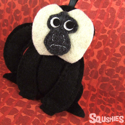 Armando the White Faced Saki - Handmade Felt Monkey