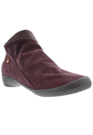 Softinos Farah - Purple Dark Brown Nubuck Smooth Combi