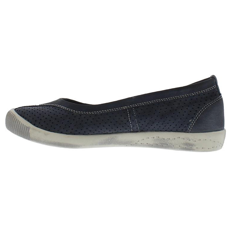 softinos, Iol, navy shoe, flat shoe, happy feet, memory foam, portugal, casual shoes, comfort shoes, washed leather, soft leather, portugues shoes, ballerina flat