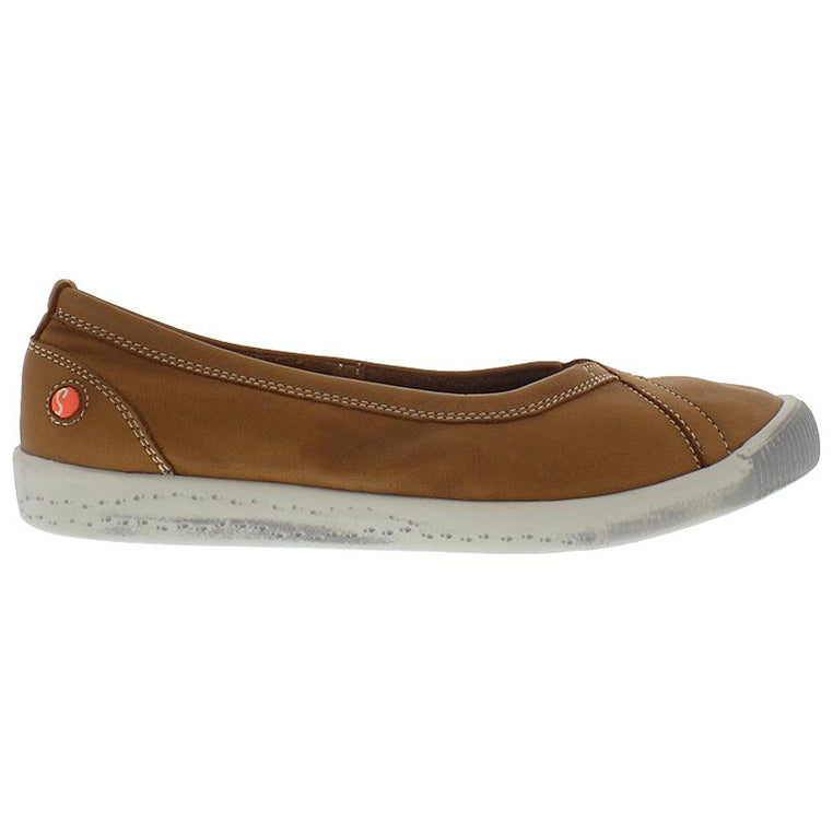 softinos, ilma, brown shoe, flat shoe, happy feet, memory foam, portugal, casual shoes, comfort shoes, washed leather, soft leather, portugues shoes, ballerina flat