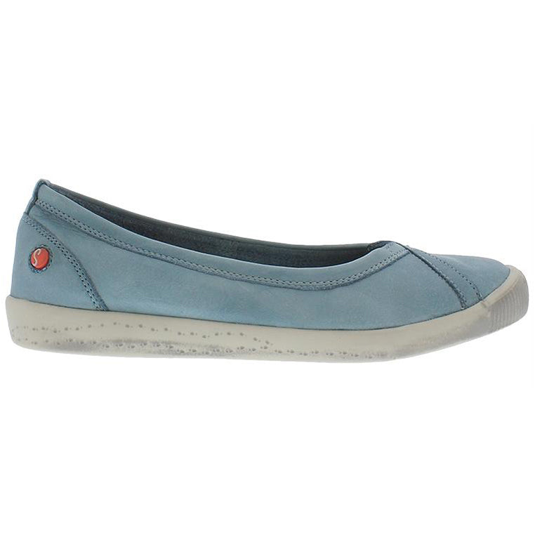 softinos, ilma, blue shoe, flat shoe, happy feet, memory foam, portugal, casual shoes, comfort shoes, washed leather, soft leather, portugues shoes, ballerina flat, pastel blue