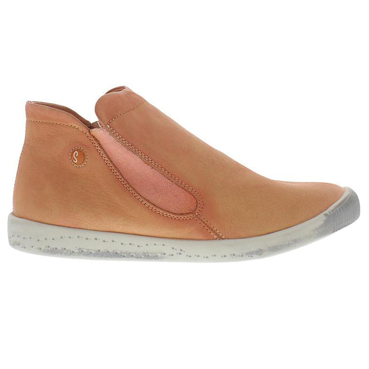 softinos, inge, salmon, peach, flat boot, sneaker boot, happy feet, memory foam, portugal, casual shoes, comfort shoes, washed leather, soft leather, portuguese shoe, pastel