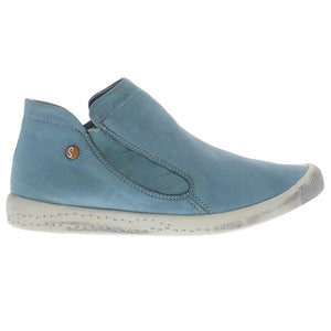 softinos, inge, blue shoe, flat boot, sneaker boot, happy feet, memory foam, portugal, casual shoes, comfort shoes, washed leather, soft leather, portuguese shoe, pastel blu