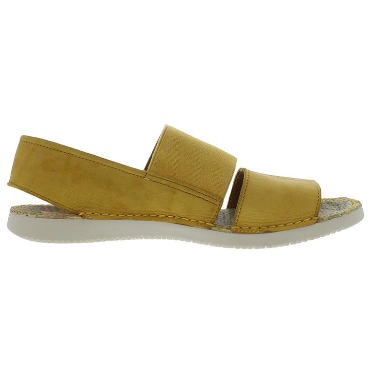 all about me, softinos, tai, yellow sandal, flat sandal, memory foam, happy feet, portugal, casual shoes, comfort shoes, soft leather, portuguese shoes, sandals, slip on shoe, washed leather