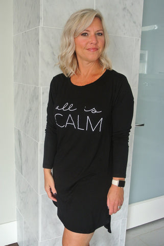 all is CALM Sleep Tee | Black