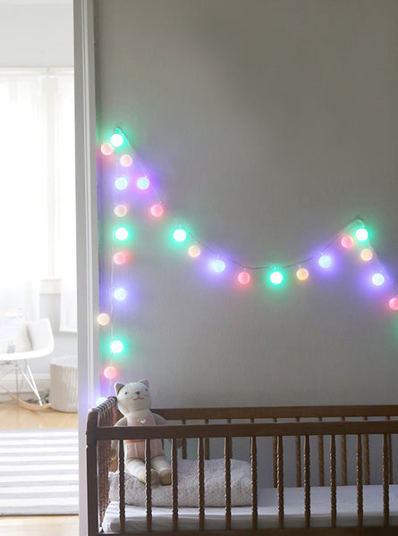 String Lights In The Nursery Weedecor