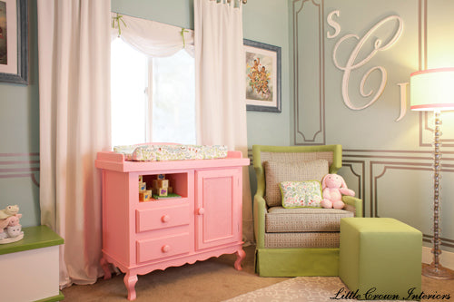 Mother Laila Ali's Classic Pink Baby Nursery