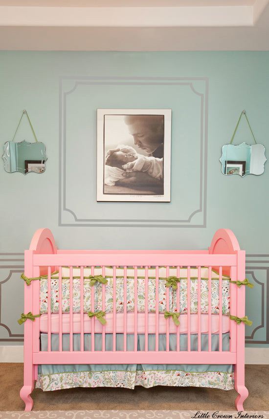 The Hope Crib in Pink in Baby Ali's Nursery