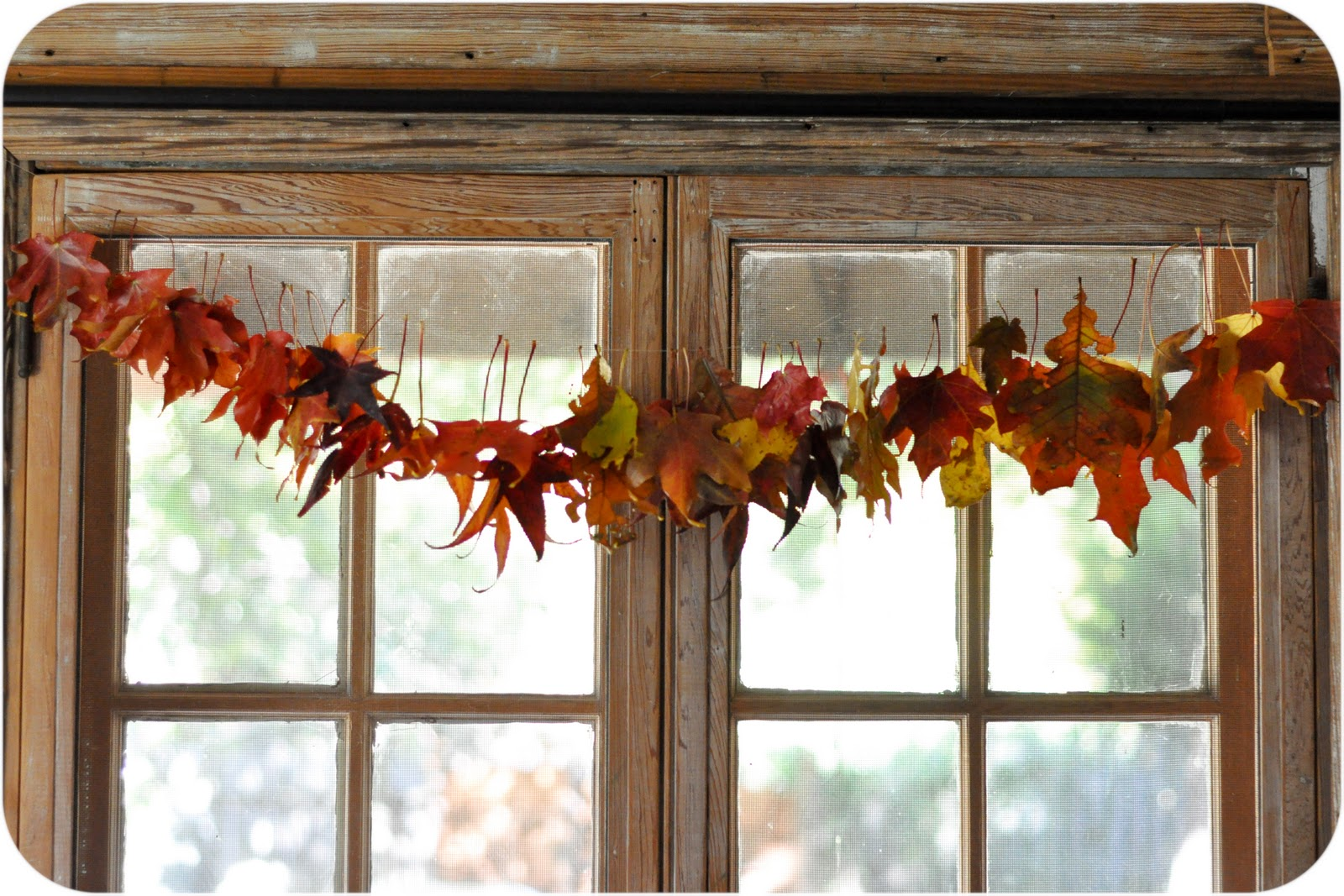 family decor leaf garland