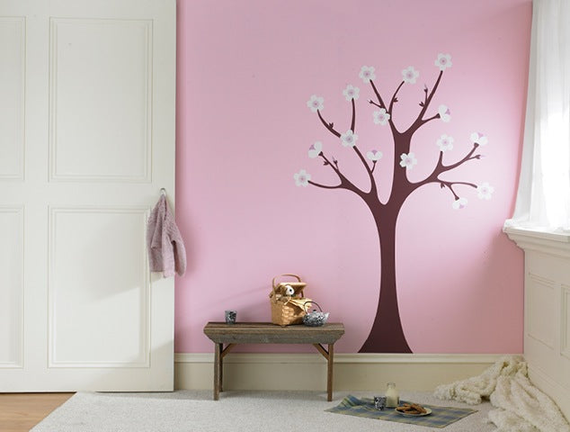Cherry Blossom Tree Nursery Wall Decor. Cherry Blossom Tree Nursery Wall Sticker.