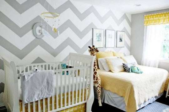 chevron.nursery.wall